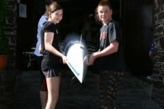 2010 Schulrudern mit dem neuen Boot